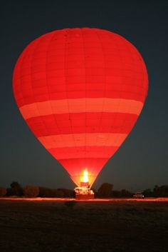 From my trip to Alice Springs & Yulara in 2009. Red hot air balloon.