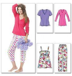 McCalls Sewing Pattern 6250 Ladies Sleep/Lounge Wear | Minerva Crafts