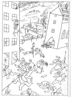 George Grosz, Riot of the Insane (1915)    http://www.austinkleon.com/2007/12/09/the-drawings-of-george-grosz/