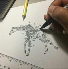 Geometric Beast | Giraffe