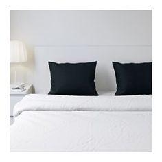 IKEA - DVALA, Funda para almohada, 50x60 cm, , El algodón tiene un tacto suave y agradable.