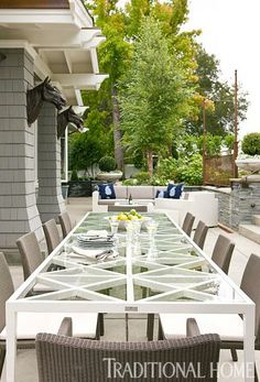 Furniture from Janus et Cie;  Before and After: Casual California Home   Traditional Home