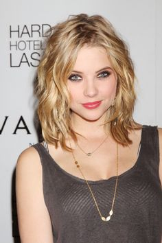 Ashley Benson Medium Wavy Cut - Ashley Benson Hair - StyleBistro