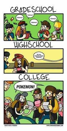 I know it will be this way for my son!  College Pokemon