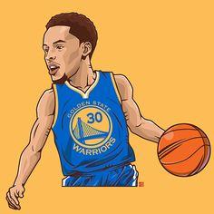 Stephen Curry Cartoon wallpaper, Basketball art, Nba stars