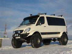 Custom Sprinter Van - Mercedes Benz Sprinter On 44 Inch Tires . Sprinter Van, Mercedes Sprinter Camper, Mercedes 4x4, 4x4 Van, Hors Route, Overland Truck, Offroader, Vanz, Cool Vans