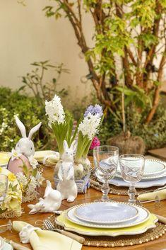 Decoração especial de mesa para Páscoa!