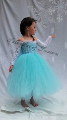 Frozen inspired Elsa Costume by TulleBoxofTreasures on Etsy, $59.99. How cute is this?!
