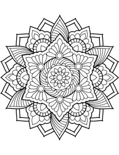 Flower Mandala Coloring Page From Floral Mandalas Category Select 29500 Printable Crafts Of Cartoons Nature Animals Bible And Many More