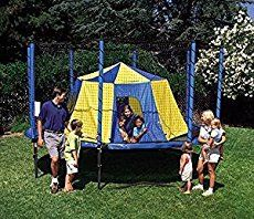 The only thing better than camping out in the woods is camping out in the JumpSport Tent - BigTop ! Kids love turning the trampoline into their personal. Trampoline Safety, Best Trampoline, Backyard Trampoline, Backyard Camping, Tent Camping, Backyard Ideas, Backyard Patio, Patio Ideas, Landscaping Ideas