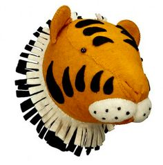 Tiger Wall Mounted Animal Head – Find more animal heads at www.babycompany.co.uk