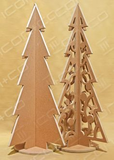 Xmas trees retail display shop, wooden timber, fret cut cnc flat-pack self assembly