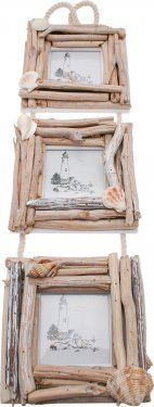 Trio of Driftwood Photo Frames from Home-Treats.co.uk