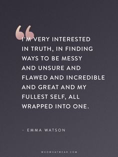 Emma Watson Quotes That Every Woman Should Read | WhoWhatWear Like & Repin thx. Follow Noelito Flow instagram www.instagram.com...