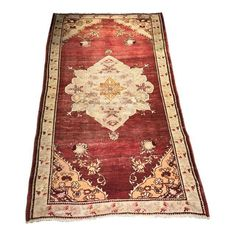 "Image of Vintage Turkish Oushak Rug- 4'1"" x 6'10"""