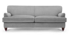 Orson 3 Seater Sofa, Granite Velvet