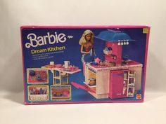 Barbie Dream Kitchen Mattel 1984 #9119 NEW NRFB Doll Not Included Box Damaged #Mattel