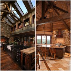 Looking to invoke a natural sense of warmth in your own kitchen? These rustic kitchens will provide you with enough inspiration to turn your home into your very own mountain lodge.