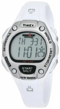 Timex Women's T5K515 Ironman Traditional 30-Lap White/Silver Resin Strap Watch Timex. $34.49. Save 31%!