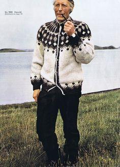 VINTAGE KNITTING PATTERNS SWEATERS CARDIGAN MEN WOMEN ICELANDIC NORDIC REYNOLDS | eBay