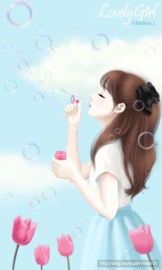 Image de art, girl, and kawaii Cartoon Girl Images, Girl Cartoon Characters, Cute Cartoon Pictures, Cute Cartoon Girl, Girly Pictures, Anime Girl Cute, Kawaii Anime Girl, Anime Art Girl, Beautiful Girl Drawing