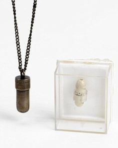 Suicide pendant worn by spies in WWII