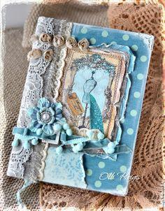 """Блокноты ручной работы. Ярмарка Мастеров - ручная работа. Купить Винтажный блокнот """"Голубой"""". Handmade. Комбинированный, Блокнот для женщины, подарок"""