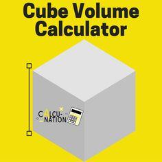 Free Educational Cube Volume Calculator!