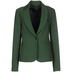 Annarita N. Blazer (4 395 UAH) ❤ liked on Polyvore featuring outerwear, jackets, blazers, green, one button jacket, single button blazer, one button blazer, green jacket et collar jacket