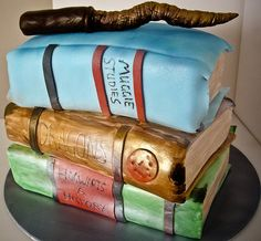 magic books and wand [front] by  artofsumptuouscakes