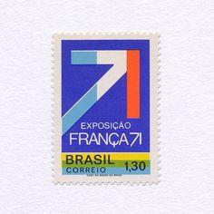 Franca 71 Industrial Technical & Scientific Exhibition  Sao Paulo (130). Brazil 1971. Design: Des W. Granado. #mnh #graphilately by graphilately
