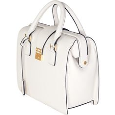 Florian London - Eleanor Doctor Tote - White ($558) ❤ liked on Polyvore featuring bags, handbags, tote bags, white purse, white tote, white handbags and white tote bag