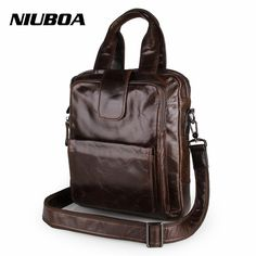 56.50$  Buy here - http://ali7z7.shopchina.info/go.php?t=32743866962 - NIUBOA Genuine Leather Men Bags Hot Sale Man Messenger Bag 100% Cowhide Men's Pad Briefcase Male Crossbody Shoulder Handbags  #buychinaproducts