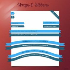 attractive web ui ribbons & corners set psd