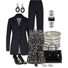 """A Day in the Office"" by taliormade on Polyvore"