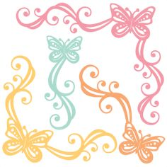 Butterfly Flourishes: Miss Kate Cuttables-- SVG scrapbook cut file cute clipart files for silhouette cricut pazzles free svgs free svg cuts cute cut files
