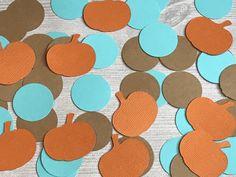 50 CT Blue Pumpkin Confetti Fall Birthday Parties, 1st Birthday Photos, Boy Birthday, Baby Shower Fall, Fall Baby, Baby Shower Parties, Little Pumpkin Party, Baby In Pumpkin, Blue Pumpkin