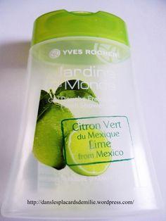 mon avis sur le Gel douche citron vert du mexique d'Yves Rocher