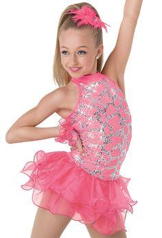 Weissman™   Drop Waist Shimmer Organza Dress