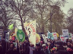 The Climate March in London yesterday #climatemarch #climatechange by kingston_courier