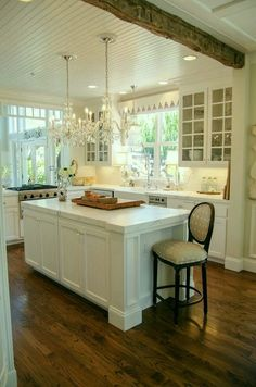 Over stove between rooms     Shawna Mullarkey-Top 25 Must See Kitchens on Pinterest - laurel home