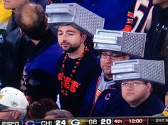 "Chicago Bear fans ~ ready to ""grate the Cheese heads"" ~ Green Bay"