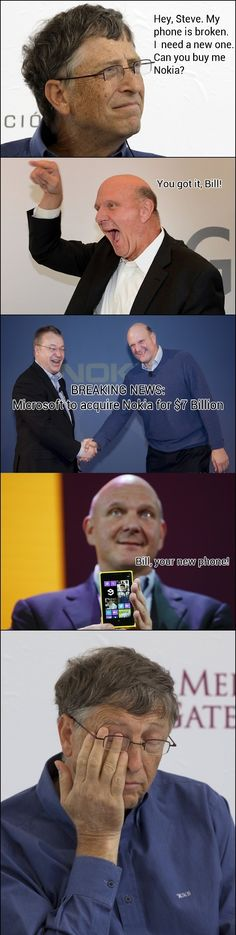 Microsoft acquires Nokia  - funny pictures #funnypictures