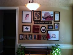 Picture wall in small entry.