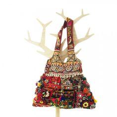 One of a Kind Bohemian Bag Vintage Textile Handmade Boho 00031