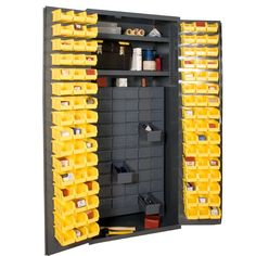 Durham Manufacturing 72 H x 36 W x 24 D Small Parts Storage and Security Cabinet Durham Manufacturing Utility Storage Cabinet, Storage Shed Organization, Shop Storage, Storage Bins, Storage Cabinets, Locker Storage, Studio Organization, Closet Storage, Durham