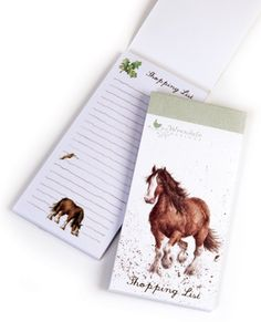 Wrendale Designs Horse Magnetic Shopping Pad ideal to connect to your fridge ready to add those next needed essential items. http://www.a-choice-of-gifts.co.uk/giftshop/prod_3721996-Wrendale-Designs-Horse-Magnetic-Shopping-Pad.html