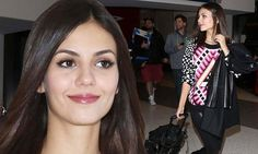 Victoria Justice jets from New York to LA immaculately made-up