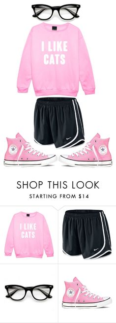 """❤️😽"" by sydthekyd01 on Polyvore featuring NIKE, ZeroUV and Converse"