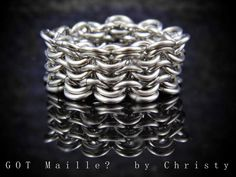 Men's Stainless Steel Chainmaille Ring  Size by GOTMaillebyChristy, $40.00